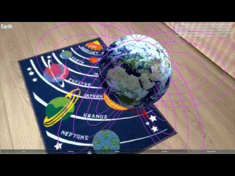 Augmented Reality  Education Solar System on CARpet