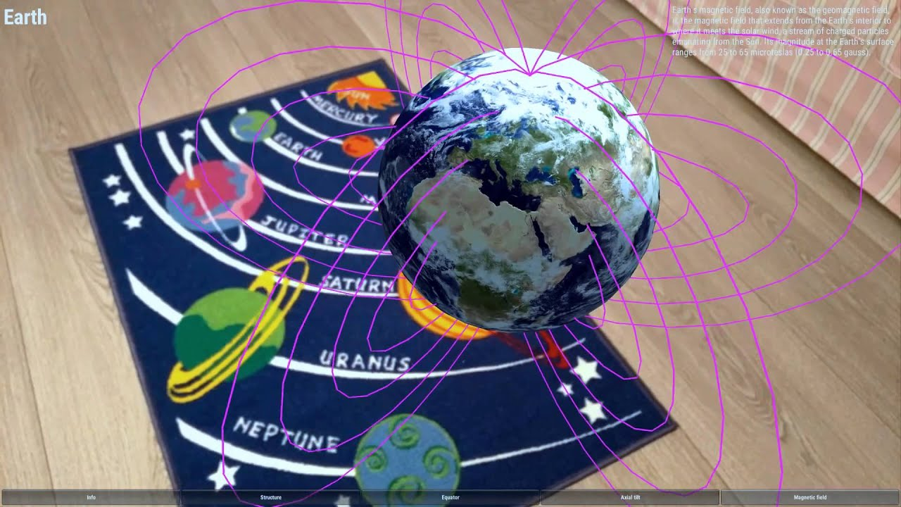 Augmented Reality Education Solar System On Carpet Youtube