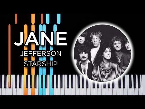 Jane (Jefferson Starship) - Piano tutorial