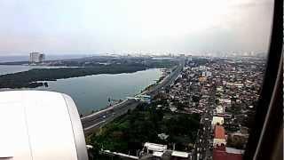 PR431マニラ国際空港着陸