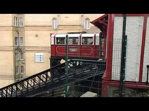 Central Tramway Funicular Cliff Railway Scarborough Yorkshire England UK