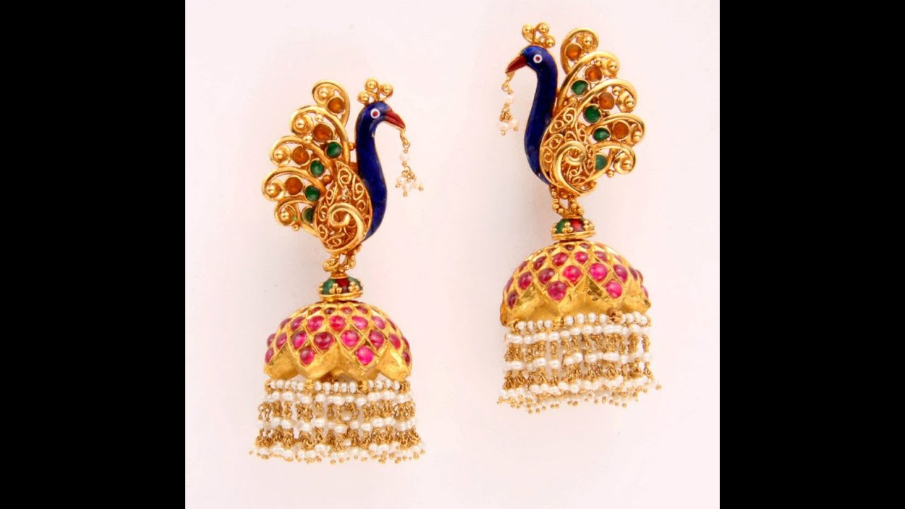 Latest Gold Ear Rings Models - YouTube