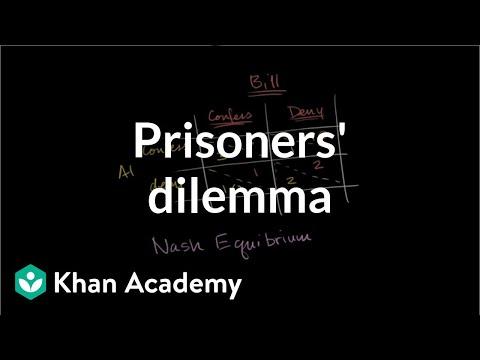 Prisoners' dilemma and Nash equilibrium | Microeconomics | Khan Academy