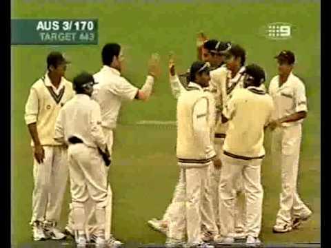 Anil Kumble 12 for 279 (includes 8/141) vs Australia 2004 4th test SCG