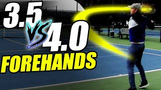 Forehand Lesson: 3 5 Forehands vs. 4 0 Forehands...What's Missing?