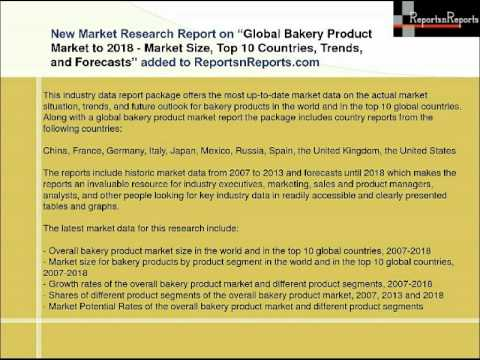 Global Bakery Product Market Growth & Forecasts Report 2018