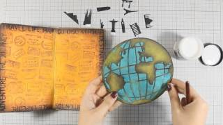 Travel Themed Art Journaling Tutorial with Vicky Papaioannou
