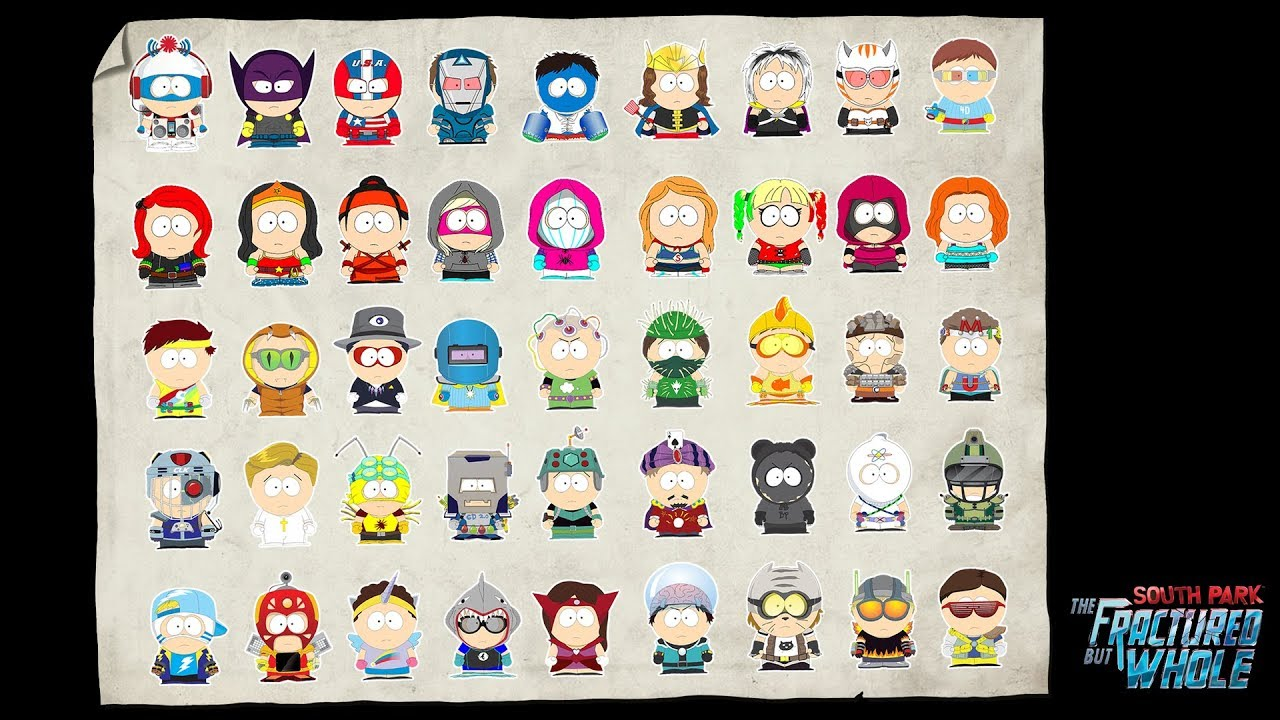South Park: The Fractured But Whole - All Costumes / Outfit Sets