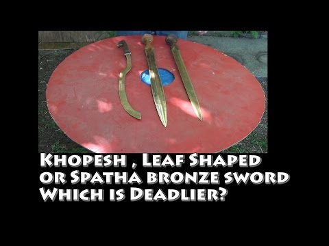 Khopesh, Leaf Shaped or Straight style Bronze sword which is Deadliest?
