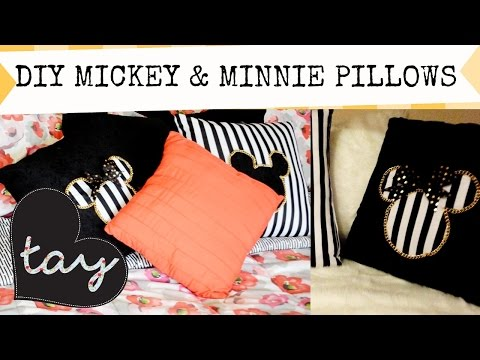 DIY Couples Mickey And Minnie Pillows