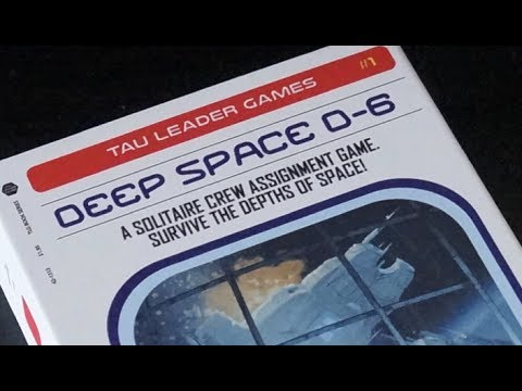 Deep Space D-6 - Solitaire Spaceship Board Game