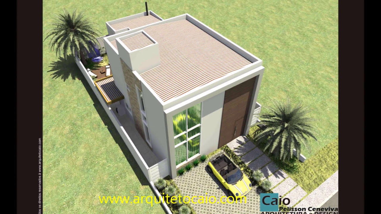 Projeto arquitetura casa loft pequeno 65m2 sobrado moderno for Casa moderna 80m2