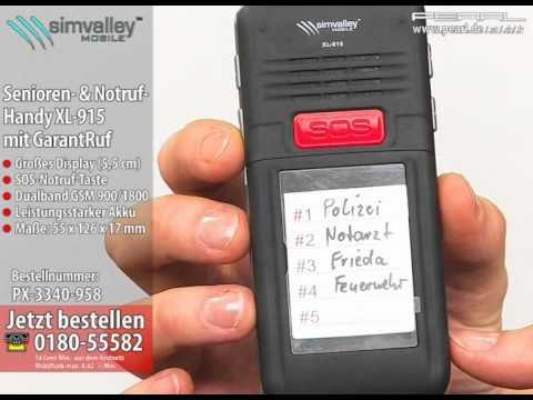 simvalley MOBILE Senioren- & Notruf-Handy XL-915 mit GarantRuf