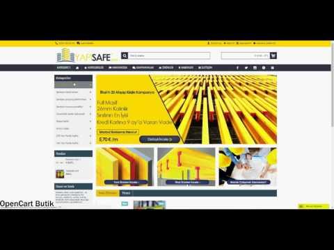 OpenCart Butik - Cache Temizleme(Clear Cache) - Opencart - E Ticaret