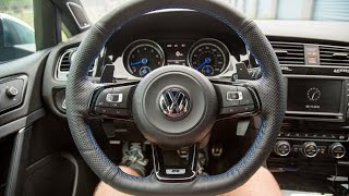 Golf R MK7 Leather Steering Wheel Wrap + How to Remove Steering Wheel