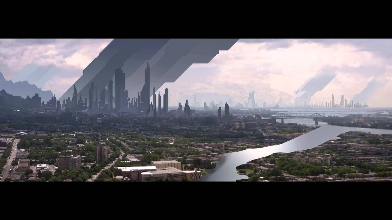 Matte painting city of futur making of youtube for Matte painting