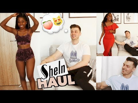 BOYFRIEND RATES MY CUTE/SPRING OUTFITS FROM MY SHEIN TRY-ON HAUL *HILARIOUS* | @LeoniJoyce
