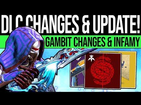 Destiny 2 | JOKER UPDATES & GAMBIT CHANGES! DLC Reveals, Pass Exotics, March Patch & Bungie Respond thumbnail