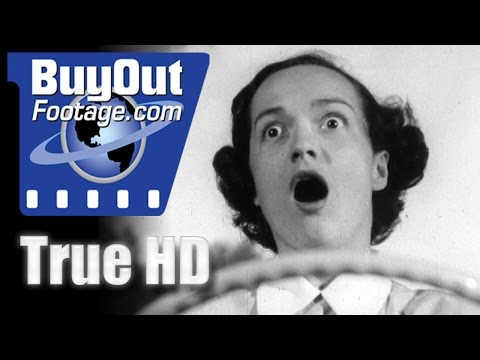 Flashback 1940s Auto Film - Safety Zone | HD Stock Footage