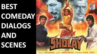 Sholay Movie Full Comedy Scenes - Amitabh Basanti Jailer Soorma Bhopali