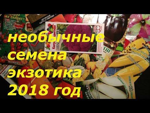 СЕМЕНА ПОЧТОЙ..ОБЗОР  ЭКЗОТИЧЕСКИХ СОРТОВ  2018 ГОД