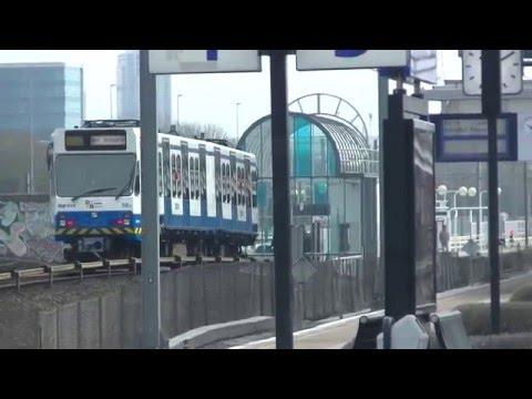 NS treinen en GVB metro