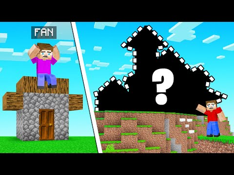 We Gave A FAN A HOUSE MAKEOVER! (Minecraft)