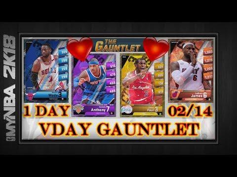 MyNBA2k18   VALENTINE'S DAY GAUNTLET   1-Day Event   Superstar LeBron James  