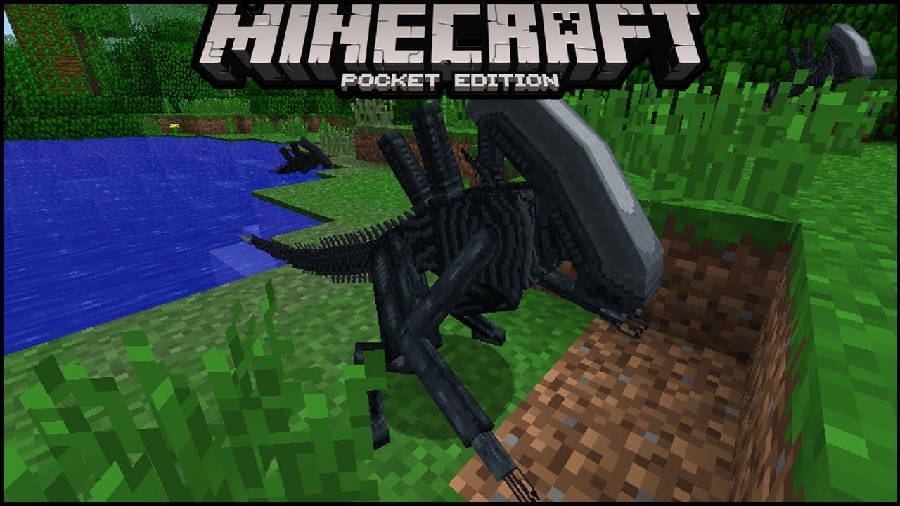 How To SPAWN ALIEN IN MCPE Minecraft Pe Aliens And UFO Addon Minecraft Pe Alien Invasion