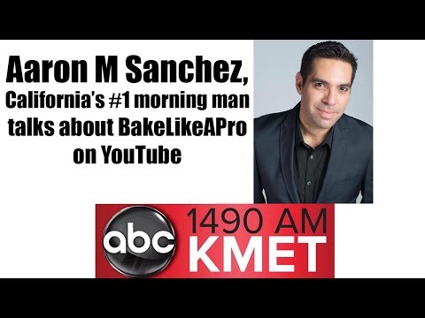 BakeLikeAPro On California's Number One Radio Morning Show on ABC With Aaron Sanchez