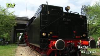 Stoomtreinen VSM -  52 8053 - 23 076 - Bubikopf 64 415 - dieselloc 636 met locomotor 225