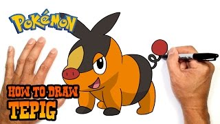 How to Draw Tepig | Pokemon