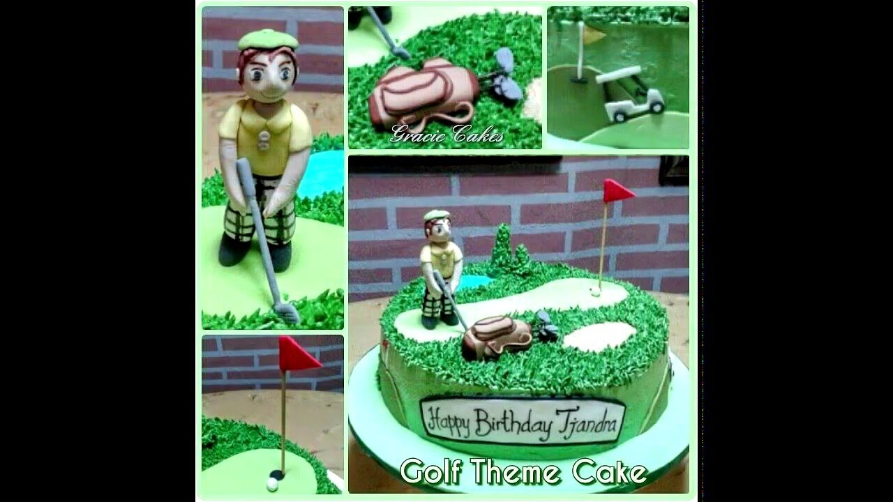 Golf Birthday Cake In Buttercream And Fondant Decoration Youtube