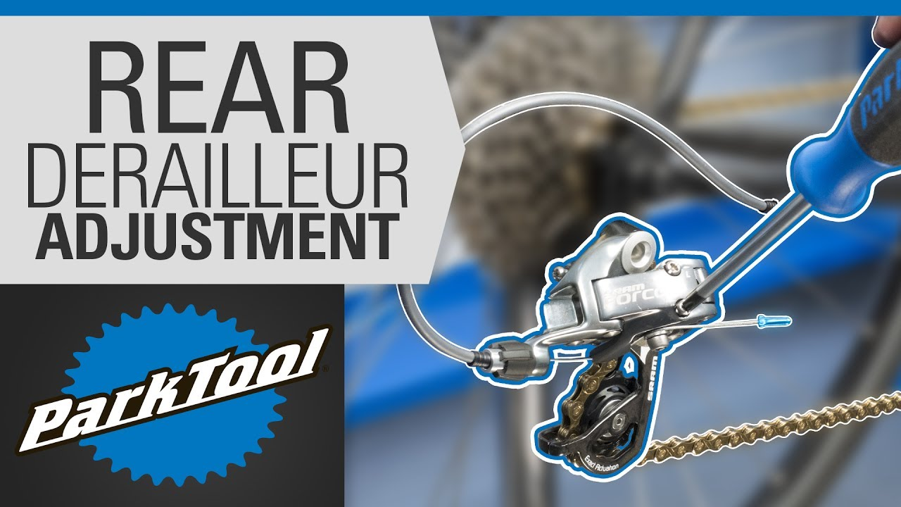 how to adjust a rear derailleur limit screws indexing [ 1280 x 720 Pixel ]