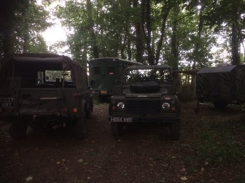 last weekend with the 110 bug out vehicle. so short night out with the lads