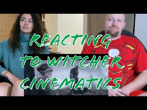 REACTING TO WITCHER III CINEMATICS | We Just Finished The Netflix Show & Are Watching Game Trailers