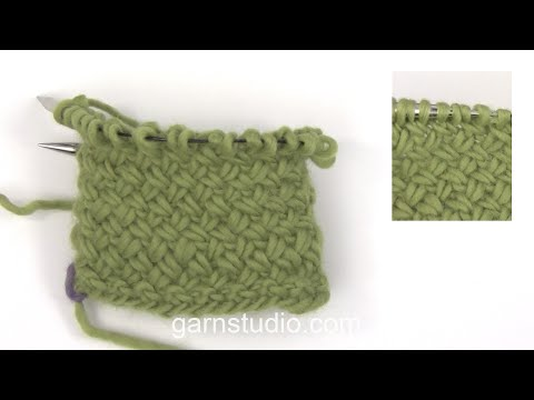 How to knit a basket pattern in the round