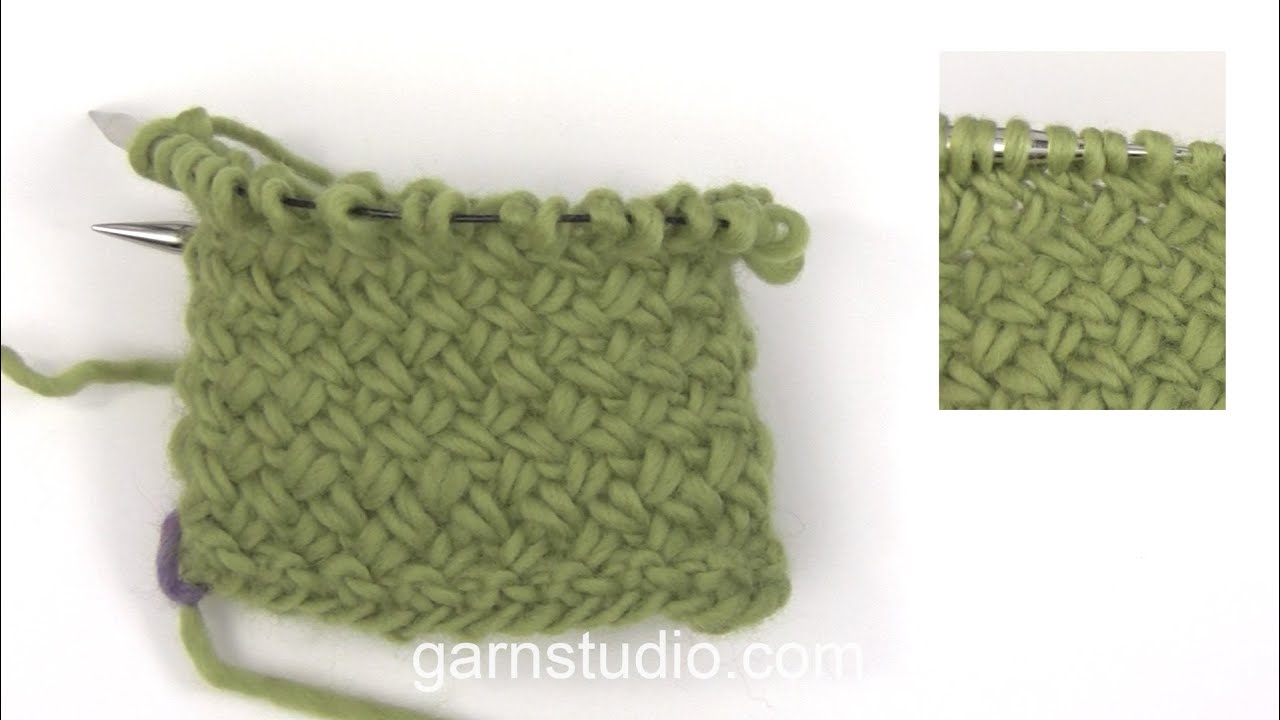 How To Knit A Basket Pattern In The Round Youtube