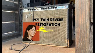 1971 Fender Twin Reverb | Vintage Amp Repair | The Electric Lady