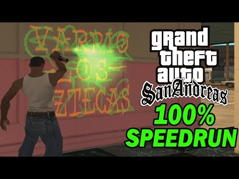 GTA San Andreas 100% Speedrun [October 2019]