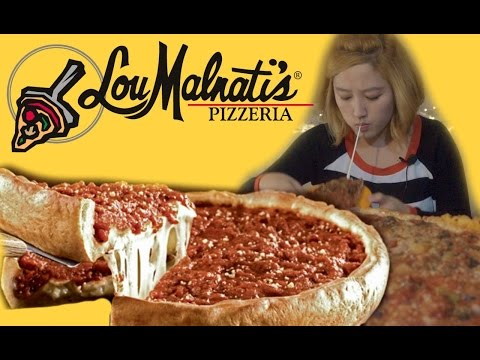 LouMalnatis Deep Dish Pizza!! [Mukbang/EatingChannel]