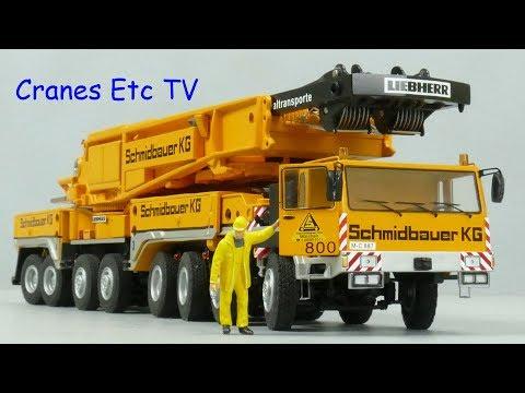 YCC Liebherr LTM 1800 Mobile Crane 'Schmidbauer' by Cranes Etc TV