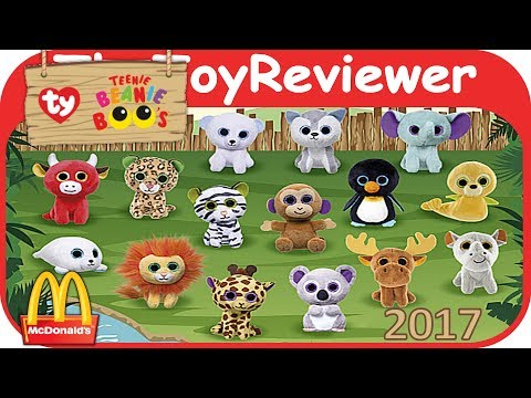 2017 Teenie Beanie Boo's McDonalds Happy Meal COMPLETE SET 15 Unboxing Toy Review by TheToyReviewer