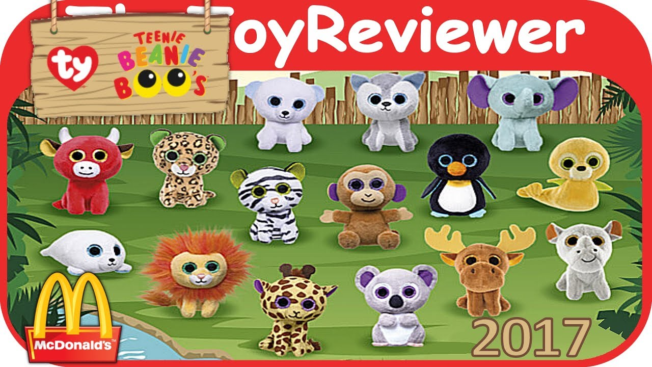 2017 Teenie Beanie Boo s McDonalds Happy Meal COMPLETE SET 15 Unboxing Toy  Review by TheToyReviewer 21a2e53dc09