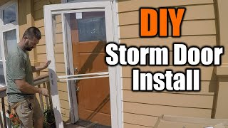 How To Install A St๐rm Door In 30 Minutes | THE HANDYMAN |