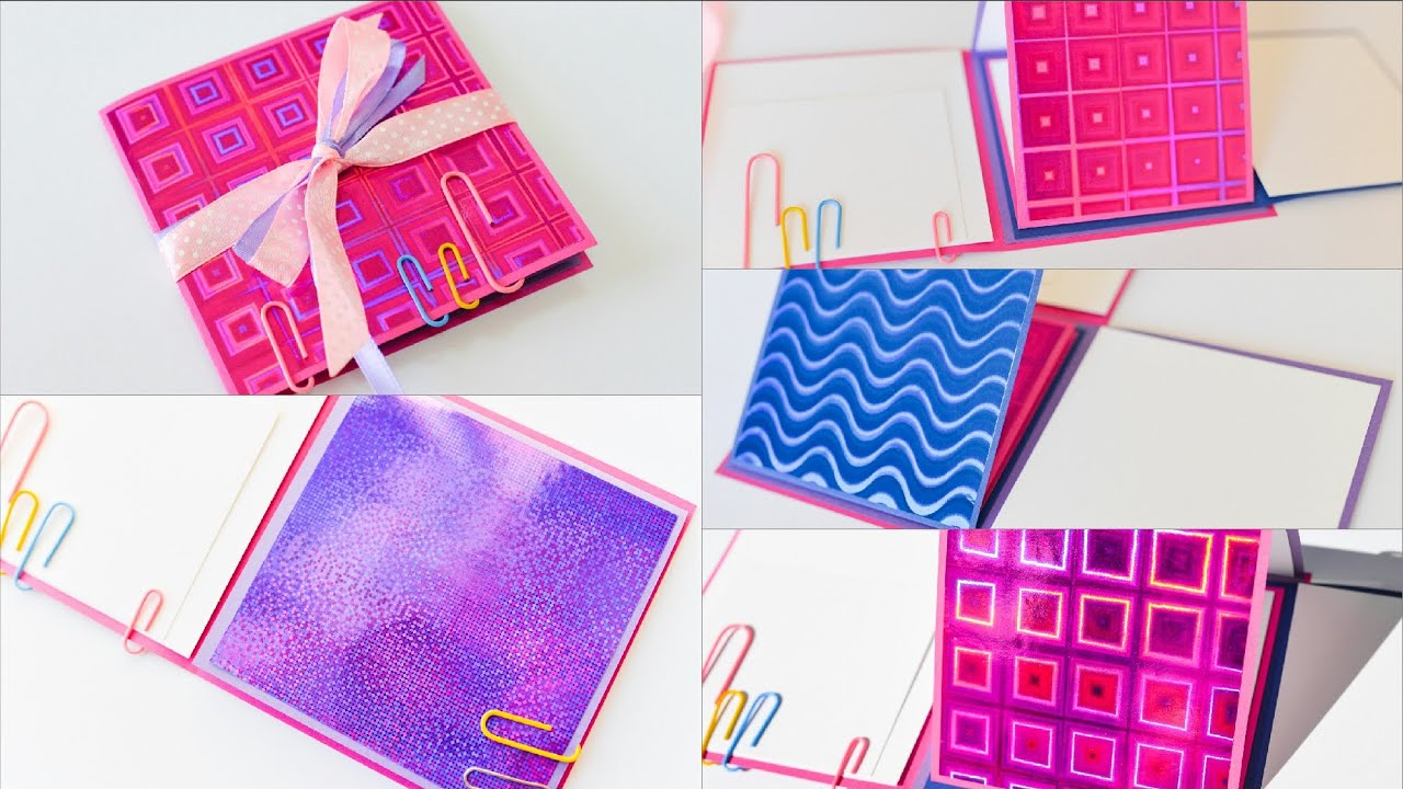 How To Make Notebook Scrapbook Holographic Back To School Step