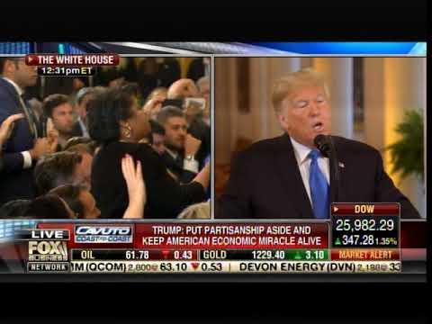 "MEDIA IN FULL REVOLT!!  TRUMP SCOLDS ""RUDE"" APRIL RYAN -- Tells Her to Sit Down"