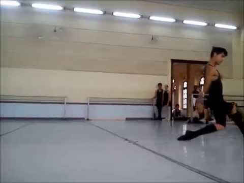 "Corsaire variation rehearsal. Cuban National Ballet School ""Fernando Alonso"""