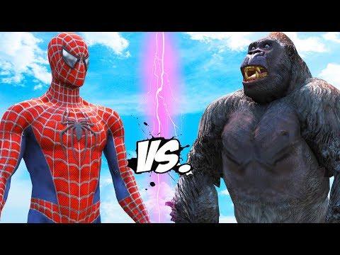 SPIDERMAN VS KING KONG - EPIC BATTLE - Ruslar.Biz