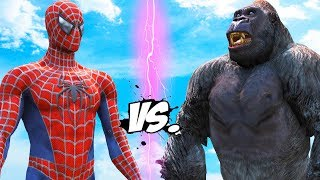Video SPIDERMAN VS KING KONG - EPIC BATTLE download MP3, 3GP, MP4, WEBM, AVI, FLV April 2018